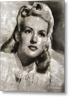 Betty Grable, Vintage Actress And Pinup By Mary Bassett Metal Print