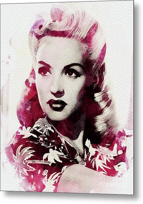 Betty Grable, Vintage Actress Metal Print