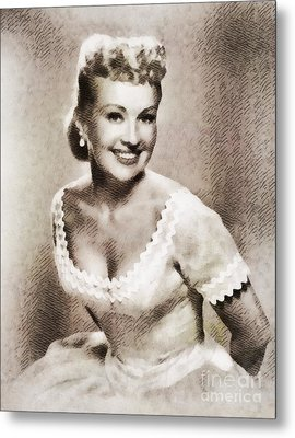Betty Grable, Vintage Hollywood Legend Metal Print