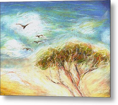 Metal Print featuring the drawing Betty's Tree by Denise Fulmer