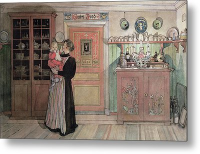 Between Christmas And New Year Metal Print by Carl Larsson