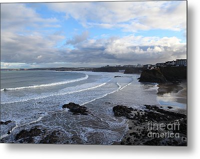 Metal Print featuring the photograph Between Cornish Storms 2 by Nicholas Burningham