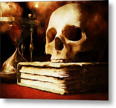 Between Life And Death Is A Dash Metal Print by Georgiana Romanovna