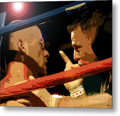 Between Rounds Metal Print by David Lee Thompson