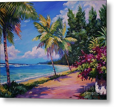 Between The Palms 20x16 Metal Print by John Clark