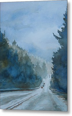 Between The Showers On Hwy 101 Metal Print by Jenny Armitage