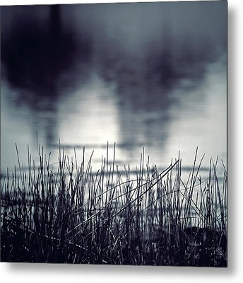 Metal Print featuring the photograph Between The Waters by Trish Mistric