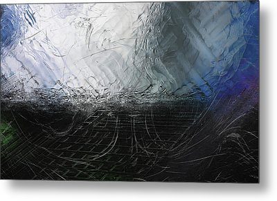 Metal Print featuring the digital art Between Us, This Melancholy Sea by Wendy J St Christopher