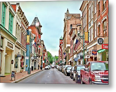 Metal Print featuring the photograph Beverley Historic District - Staunton Virginia - Art Of The Small Town by Kerri Farley