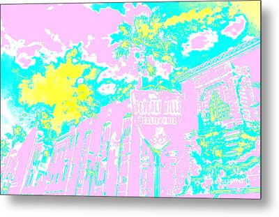 Beverly Hills California Metal Print by Victor Arriaga
