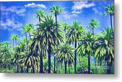 Beverly Hills Palms Metal Print by Alicia Hollinger