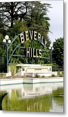 Beverly Hills Reflection Metal Print by Art Block Collections