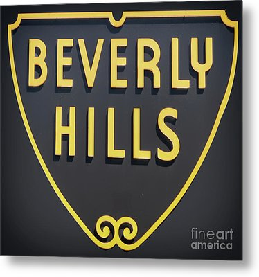 Beverly Hills Sign Metal Print by Mindy Sommers