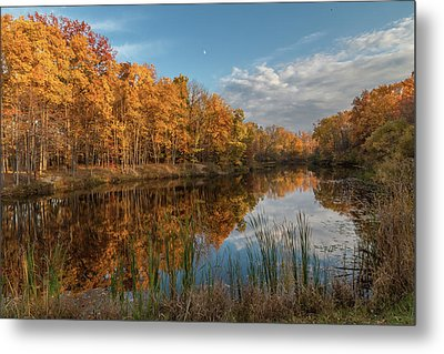 Beyer's Pond In Autumn Metal Print