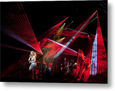 Beyonc Performs During The State Dinner Metal Print by Everett