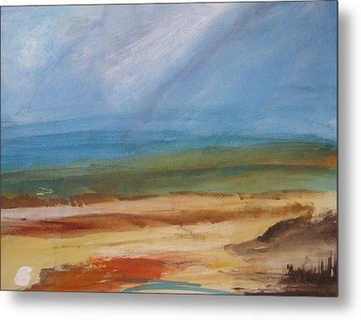 Metal Print featuring the painting Beyond The Colors by Trilby Cole