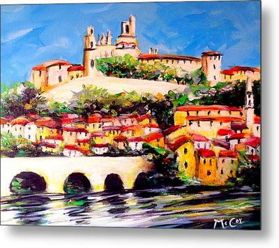 Beziers Reflections Metal Print
