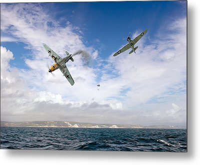 Metal Print featuring the photograph Bf109 Down In The Channel by Gary Eason
