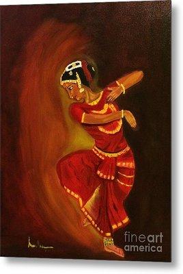 Bharatnatyam Dancer Metal Print by Brindha Naveen