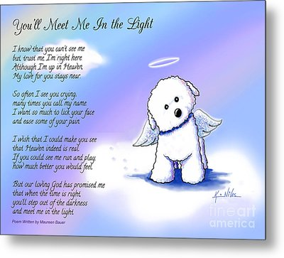 Bichon Frise Angel With Poem Metal Print