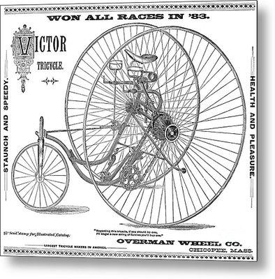 Bicycle, 1884 Metal Print by Granger
