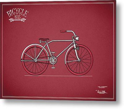 Bicycle 1935 Metal Print by Mark Rogan