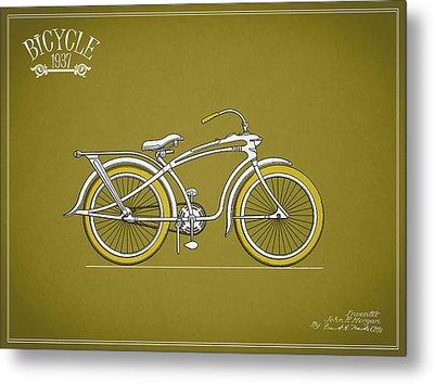 Bicycle 1937 Metal Print by Mark Rogan