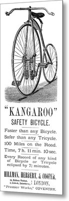 Bicycle Ad, 1885 Metal Print by Granger