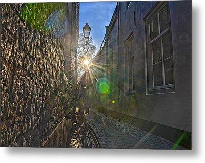Bicycle Alley Metal Print by Frans Blok