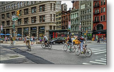 Bicycle Ballet  Metal Print
