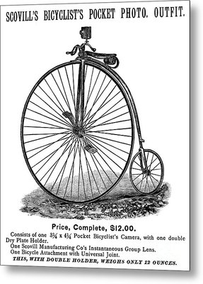 Bicycle Camera Ad, 1887 Metal Print by Granger