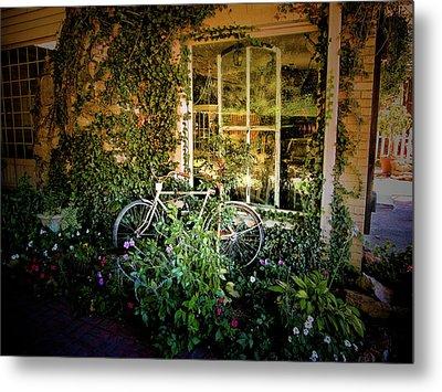 Bicycle In Bloom Metal Print by Rosemary McGahey