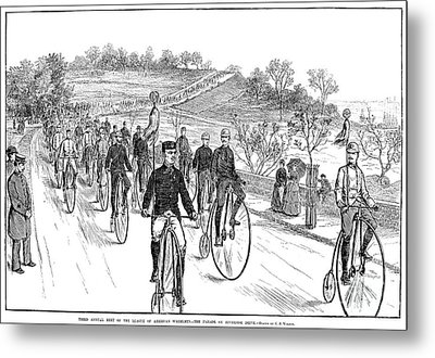 Bicycle Meet, 1883 Metal Print by Granger