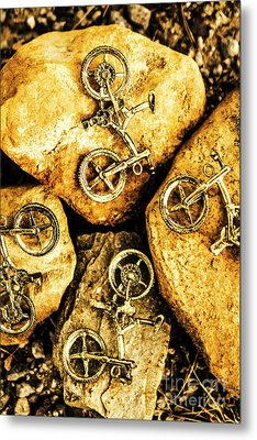 Bicycle Obstacle Course Metal Print by Jorgo Photography - Wall Art Gallery