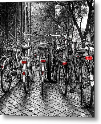 Bicycle Park Metal Print