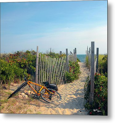 Metal Print featuring the photograph Bicycle Rest by Madeline Ellis