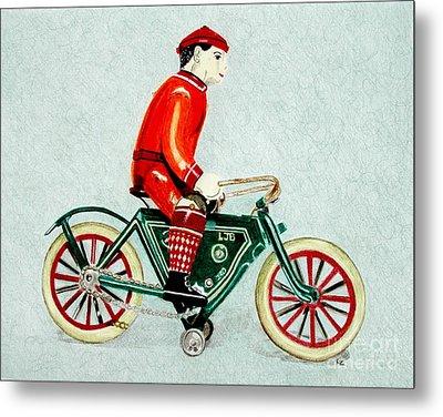 Bicycle Rider Metal Print