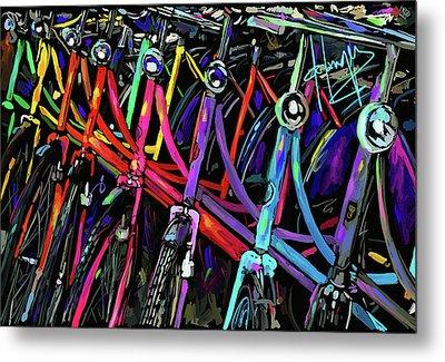 Bicycles In Amsterdam Metal Print by DC Langer