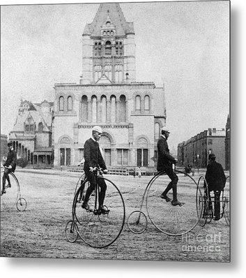 Bicycling, 1880s Metal Print by Granger