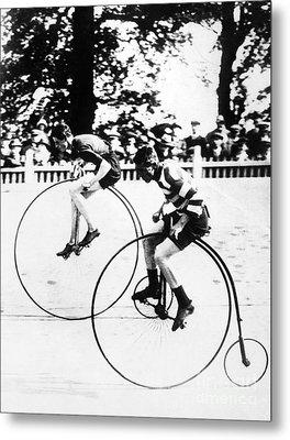 Bicycling Race, C1890 Metal Print by Granger