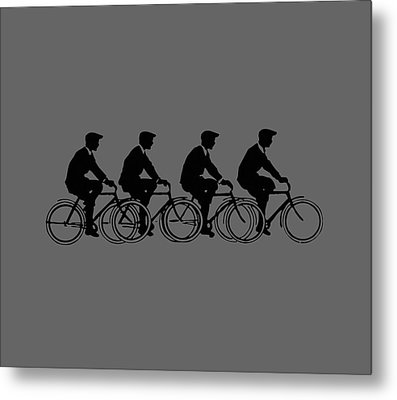 Bicycling T Shirt Design Metal Print by Bellesouth Studio