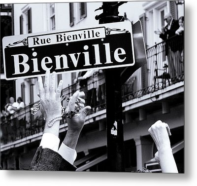 Metal Print featuring the photograph Bienville Street In New Orleans by Ray Devlin