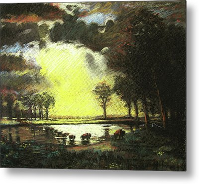 Bierstadt Impression Metal Print by Nils Bifano