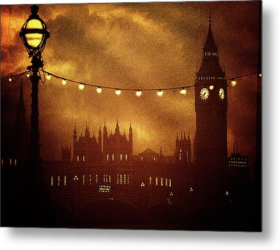 Metal Print featuring the digital art Big Ben At Night by Fine Art By Andrew David