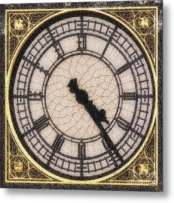 Metal Print featuring the photograph Big Ben Clock Color By Numbers 20161115 by Wingsdomain Art and Photography