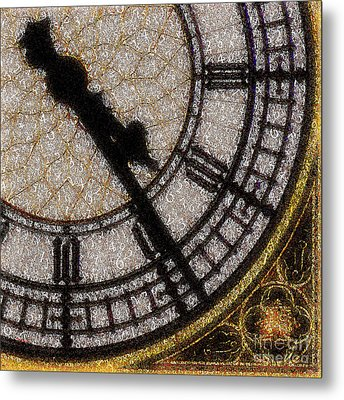 Metal Print featuring the photograph Big Ben Clock Color By Numbers 20161115v2 by Wingsdomain Art and Photography