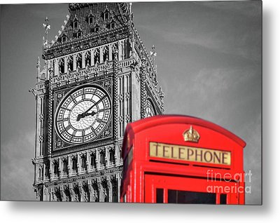 Metal Print featuring the photograph Big Ben by Delphimages Photo Creations
