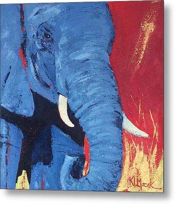 Big Blue Metal Print by Karen Macek