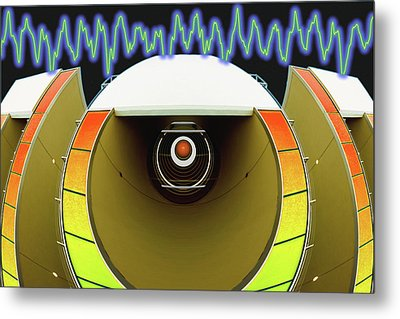 Metal Print featuring the digital art Big Boom Box by Wendy J St Christopher