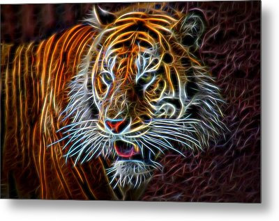 Metal Print featuring the digital art Big Cat by Aaron Berg